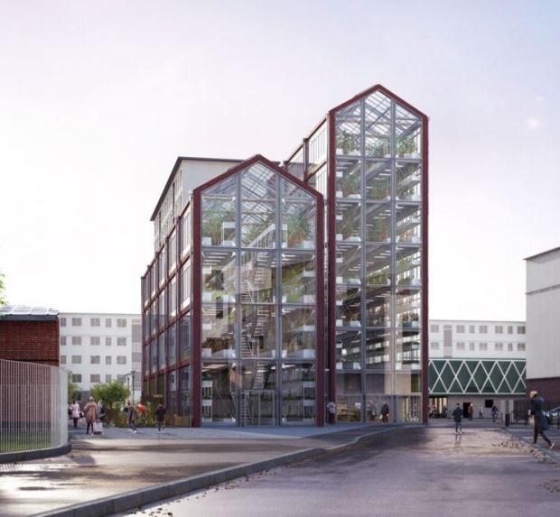 Deux tours de 14 et 26 mètres de hauteurs pour cultiver des légumes dans l'Est Parisien à Romainville