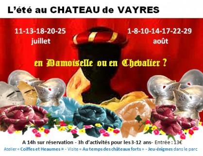 Après-midi enfants Château de Vayres