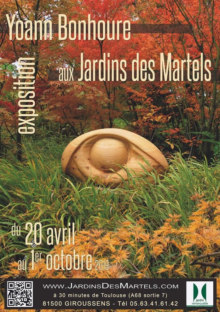 Yoann Bonhoure expose aux Jardins des Martels