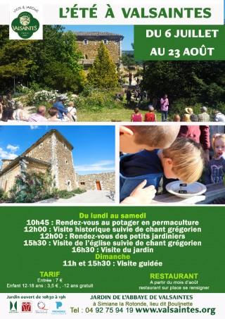 L'été au Jardin de l'abbaye de valsaintes