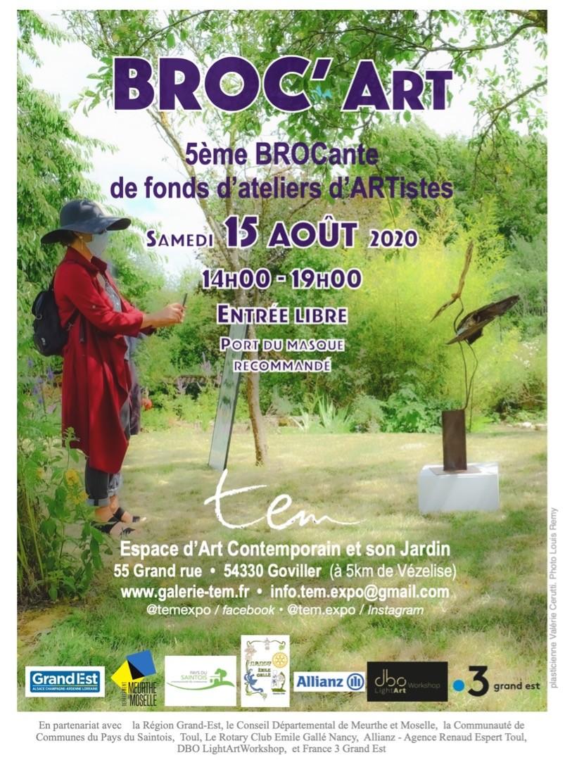 Broc'Art dans le jardin de TEM