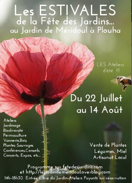 Les Estivales de la Fête des Jardins au jardin de Méridoul à Plouha